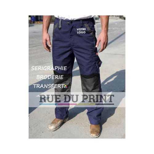 Pantalon publicité technique 65% polyester, 35% coton, 270 g/m² tissu contrasté aux genoux: 210 g/m², 100% polyester