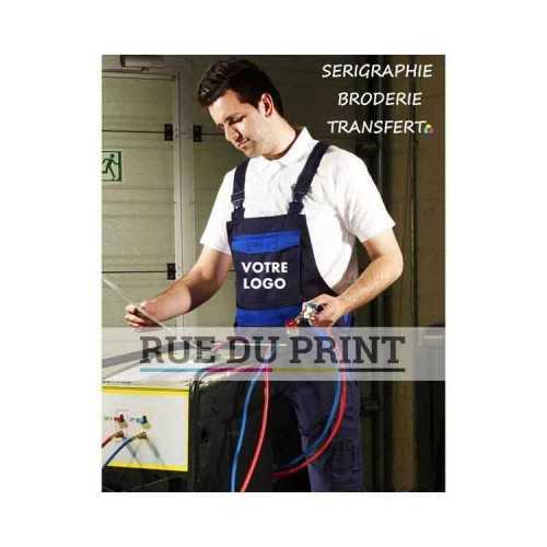 Salopette publicité Industry 300 Bib 65% polyester, 35% coton, 300 g/m2 taille élastiquée attache marteau