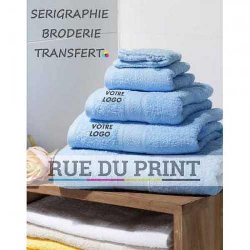 Serviette publicité invité Seine 420 g/m² 100% coton serviette invité