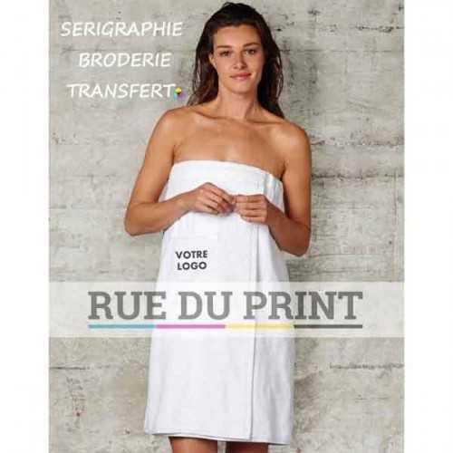 Serviette publicité sauna Rhône 420 g/m² 100% coton serviette de sauna