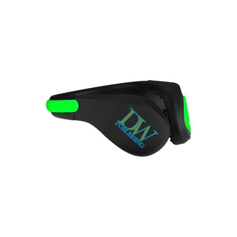 Pince publicité à chaussure à LED Usain Se fixe facilement au talon de votre chaussure pendant la course, le vélo ou la marche.