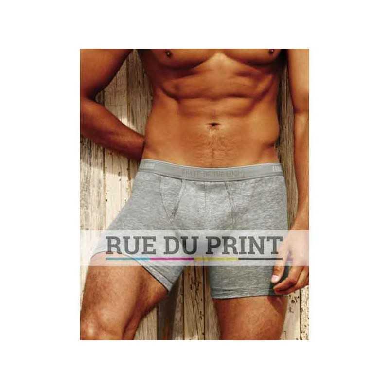 Boxer publicité homme, par 2 155 g/m² (White: 150 g/m²) 95% coton, 5% élasthanne short moulant