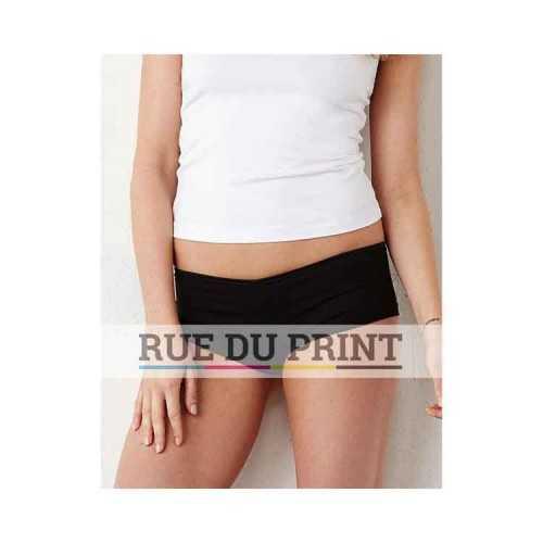 Culotte publicité femme Spandex 220 g/m2 95% coton peigné ringspun, 5% spandex ruban satin