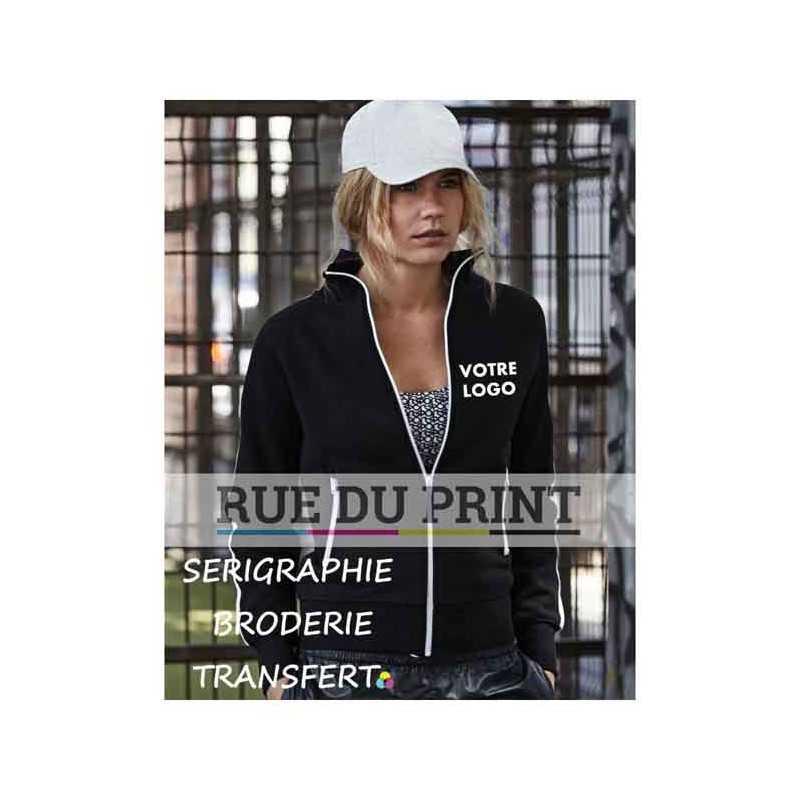 Sweat publicité sport femme 310 g/m² 70% coton ringspun peigné, 30% polyester coton égyptien à longues fibres