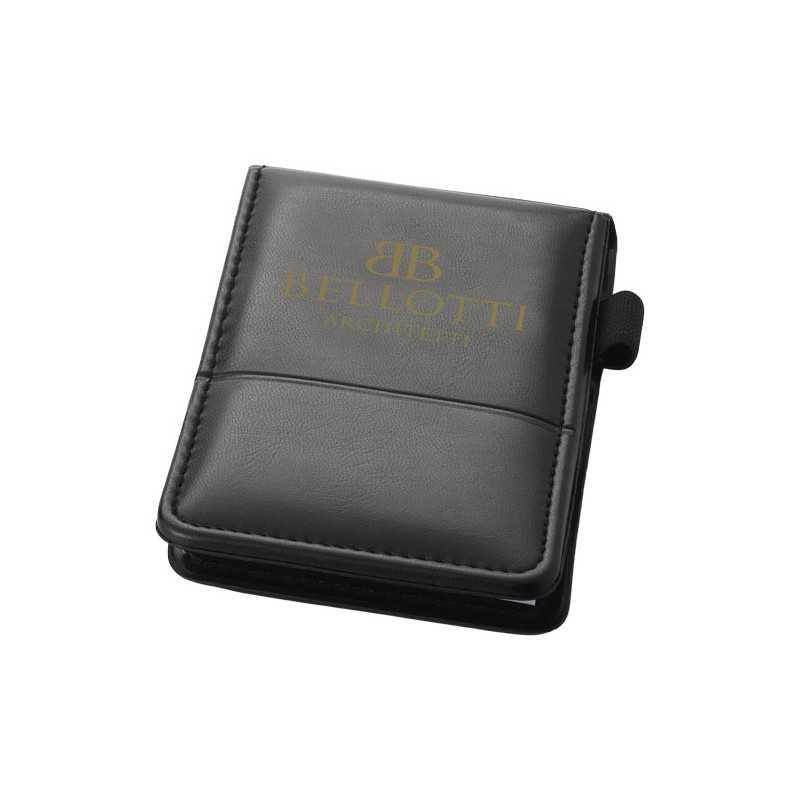BLOC-NOTE personnalisé FLEMMING ontient 40 feuilles, dispose d'un passant pour stylo et de 2 poches pour ranger vos cartes de