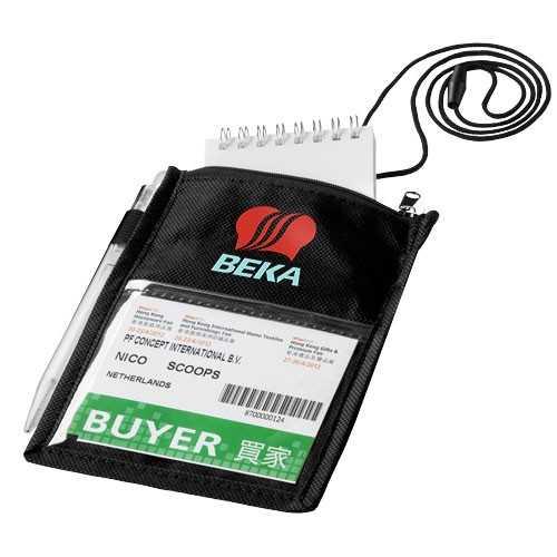 Porte-badge personnalisable Identifier Comprend boucle à stylo élastique et fermeture cassable, conformément aux directives eur