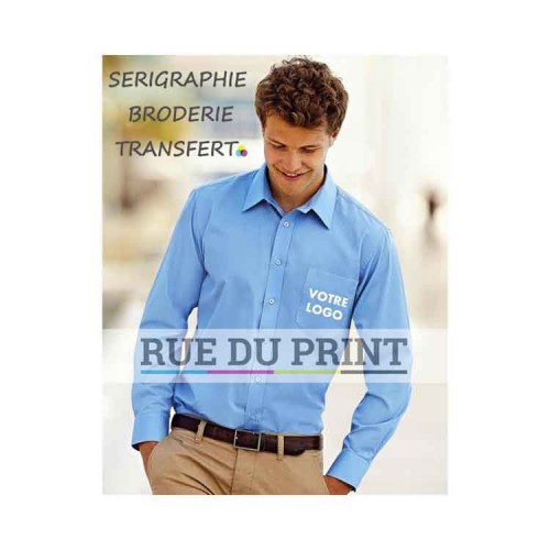 Chemise manches longues Poplin