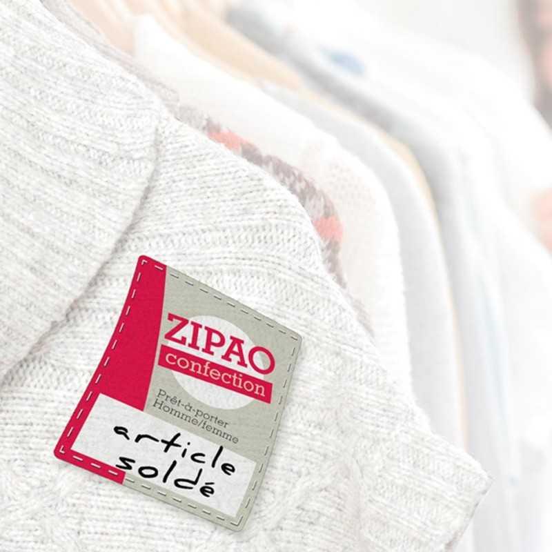 Étiquettes collantes publicitaires textiles
