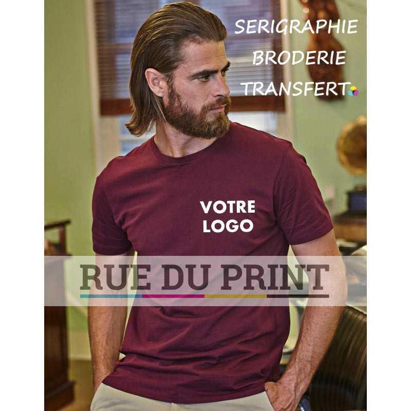 Tee-shirt publicité grenat profil Luxe 100% coton peigné ringspun (jersey simple), 160 g/m² coton à longues fibres