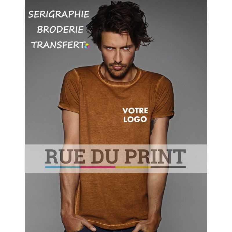 Tee-shirt publicité marron profil Look Ultime 100% coton prérétréci ringspun, 145 g/m² jersey simple col rond