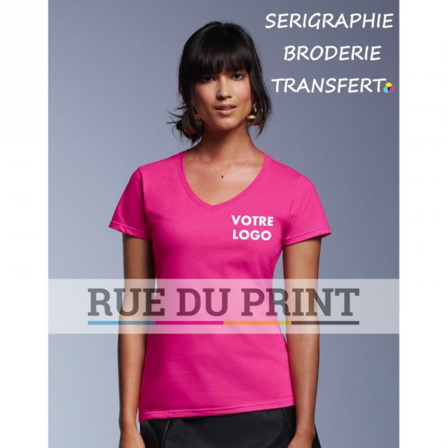 Tee-shirt femme Fashion col V