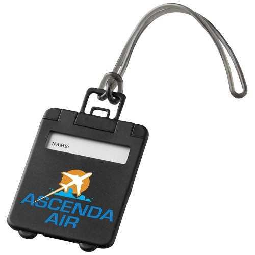 Étiquette personnalisée à bagages Taggy cordelette gomme et étiquette identification. La partie intérieure contient l'étiquett
