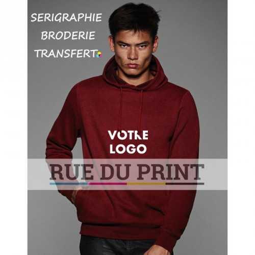 Sweatshirt publicité look Dark Heather 280 g/m² 80% coton, 20 % polyester look Dark Heather