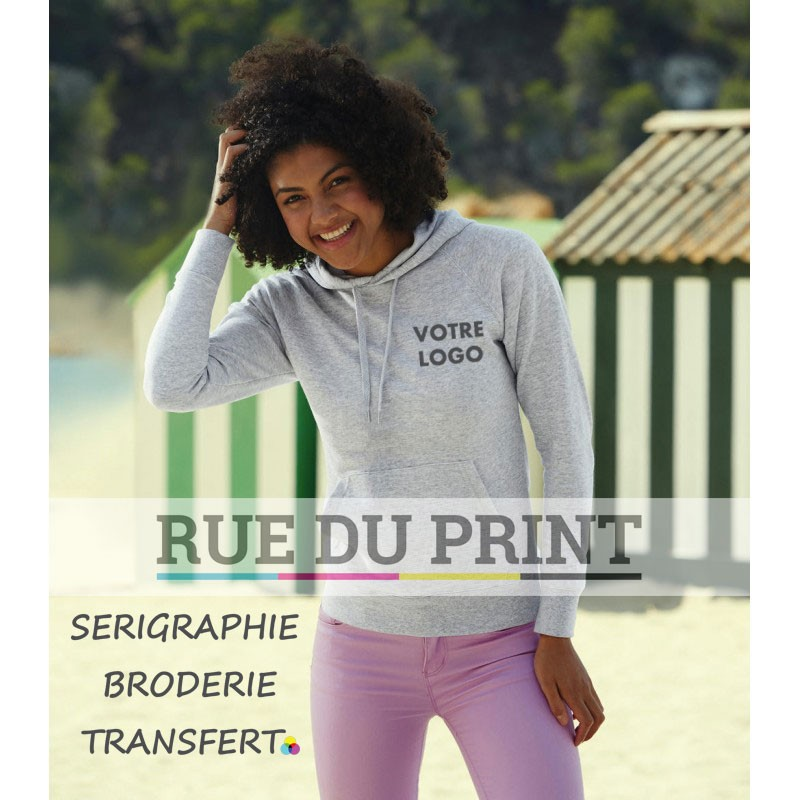 Sweat publicité femme léger Fit 240 g/m² 80% coton (Belcoro®), 20% polyester polaire non brossé très léger