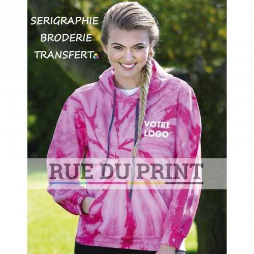 Sweat publicité Arc en ciel 265 g/m² 50% coton, 50% polyester fil open end
