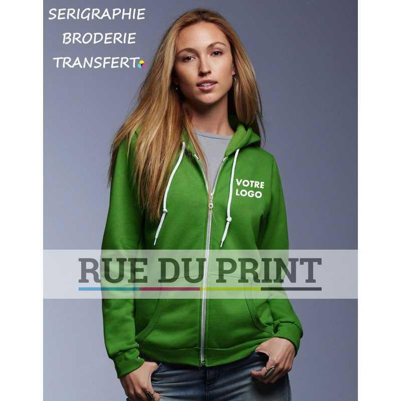 Sweat publicité à fermeture Fashion 245 g/m² 75% coton ringspun, 25% polyester prérétréci