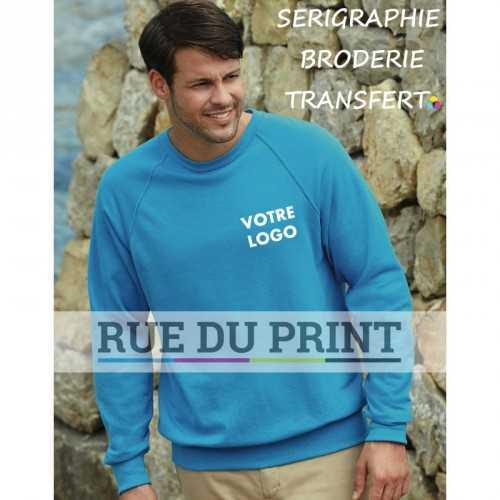Sweat publicité Raglan 240 g/m² 80% coton (fil Belcoro®), 20% polyester