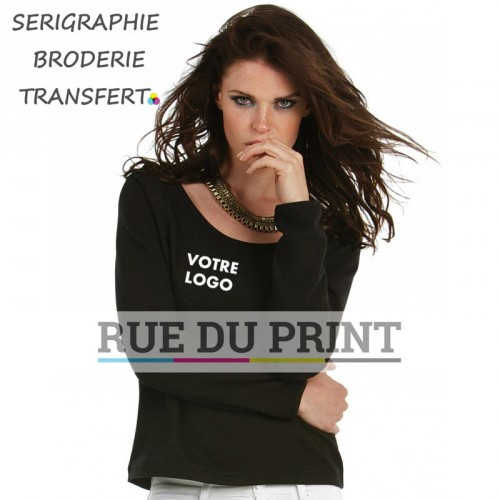 Sweat publicité femme été 240 g/m² 80% coton, 20% polyester french terry