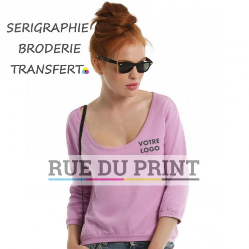 Sweat publicité femme été Terry 240 g/m² 80% coton, 20% polyester french terry