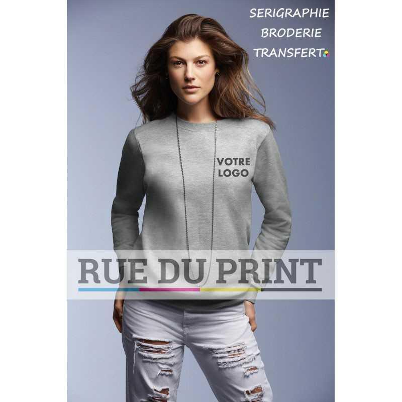Sweat publicité femme Fashion ras de cou 245 g/m² 75% coton ringspun, 25 % polyester prérétréci