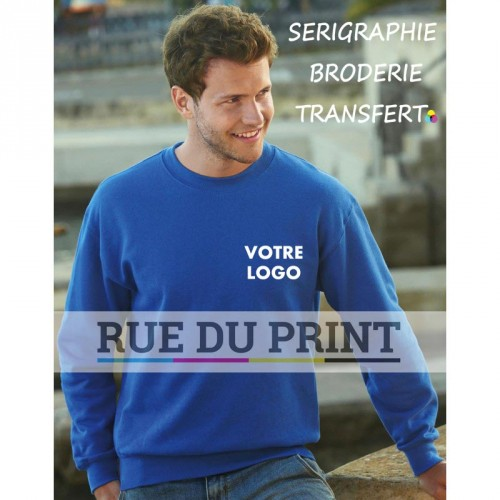 Sweat publicité Set-in 280 g/m² 70% coton ringspun, 30% polyester