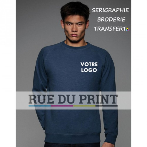 Sweat publicité Vintage Raglan 280 g/m² 80% coton, 20% polyester french terry