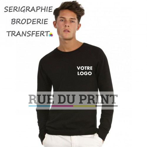 Sweat publicité été Raglan 240 g/m² 80% coton, 20% polyester french terry