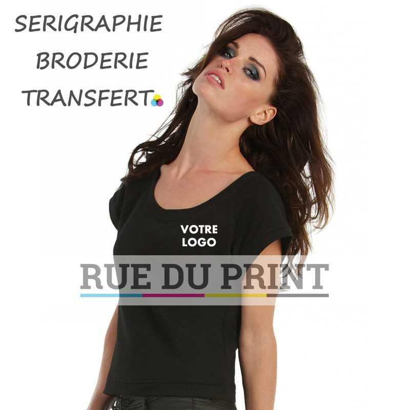 Sweat publicité femme manches courtes 240 g/m² 80% coton, 20% polyester french terry