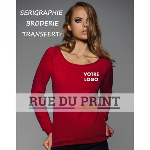 Sweat publicité femme Vintage 280 g/m² 80% coton, 20% polyester french terry