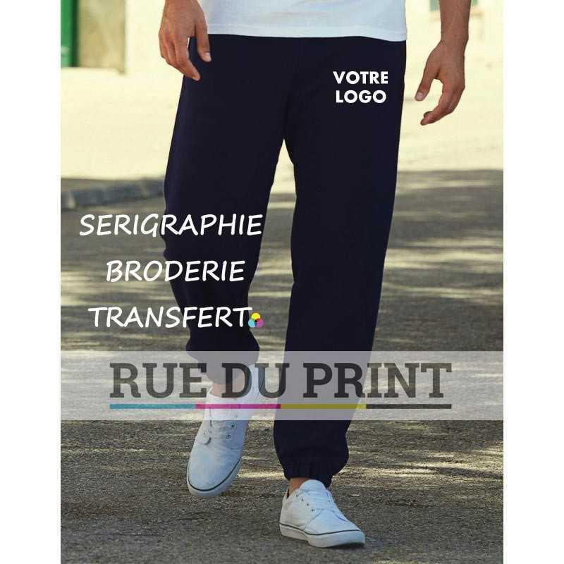 Pantalon publicité élastique Cuff 280 g/m² 70% coton ringspun, 30% polyester taille élastiquée poches latérales