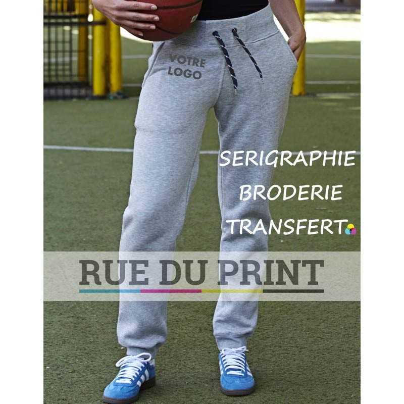 Pantalon publicitaire Sweat 310 g/m² 70% coton ringspun, 30% polyester coton égyptien à longues fibres surface douce