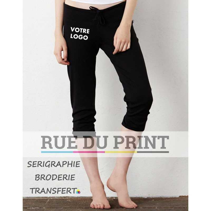 Pantalon publicité femme cintré 155 g/m² 52% coton peigné ringspun, 48% polyester bord côte 1x1 large ruban à la taille avec