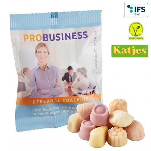 """""""Confiserie personnalisable gelifiée au yaourt"""" Katjes sans gélatine d'origine animale, sans colorants, sans gluten"""