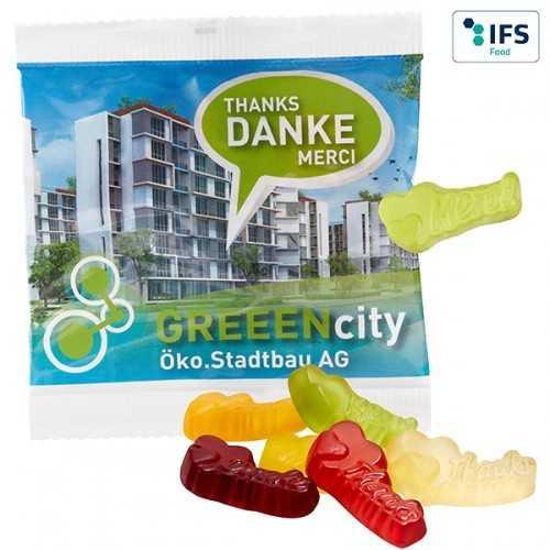 Mélange personnalisable Merci/Danke/Thanks avec 10 % de fruits à partir de jus de fruits concentré