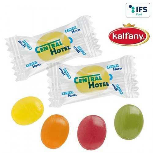 Mini-bonbons publicités en flowpack transparent ou blanc (laminage mat/brillant).