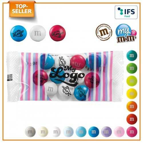 My M&M's® personnalisable en sachet logo sur les bonbons en chocolat