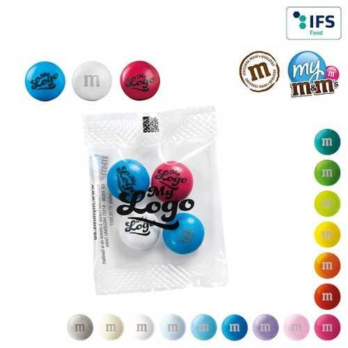 My M&M's® publicitaire en mini sachet logo sur les bonbons en chocolat