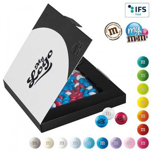 My M&M's® publicité coffret cadeau premium image ou logo sur les bonbons en chocolat.