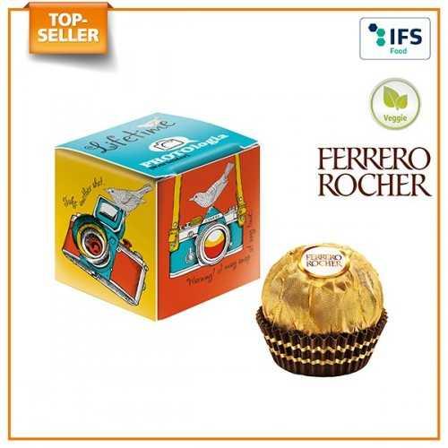 Mini-cube publicitaire avec Ferrero Rocher