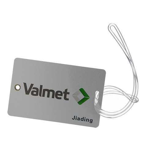 Etiquette à bagage en PVC rigide (2 cartes)