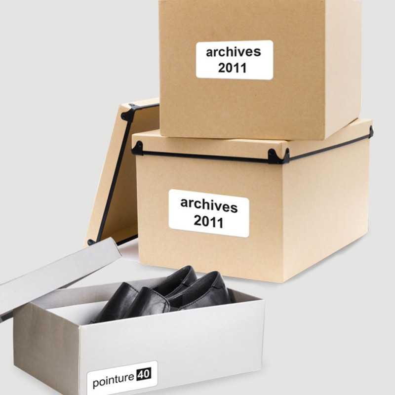 Etiquettes collantes publicitaires noir et blanc