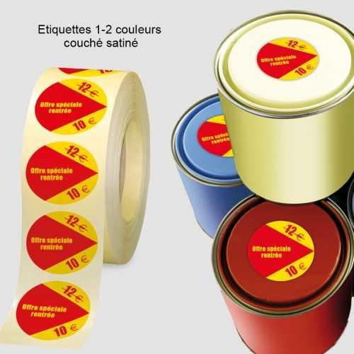 Etiquettes 1-2 couleurs