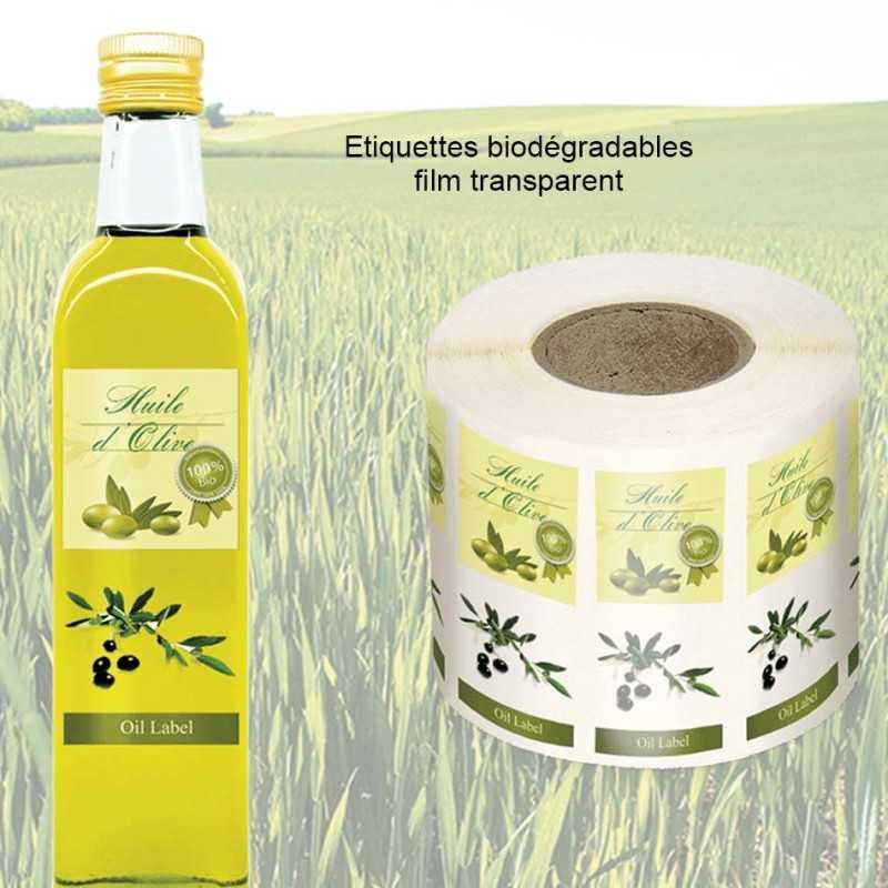 Etiquettes personnalisées synthétiques biodégradables