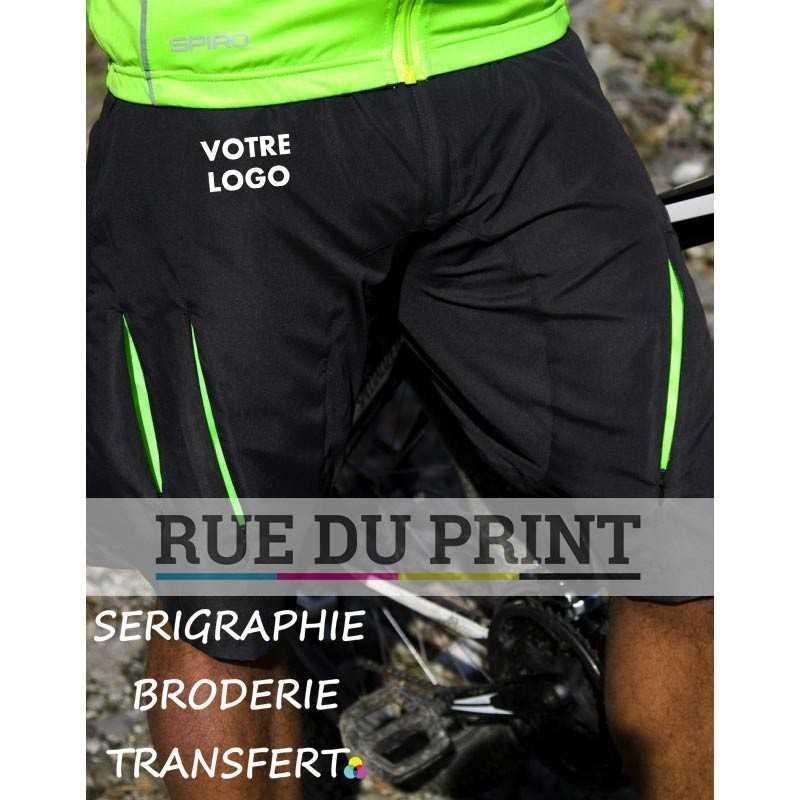 Short publicité Spiro tissu ext principal: 100% nylon (taslon) panneau du dessus: 220 g/m², 92% polyester, 8% élasthanne panne
