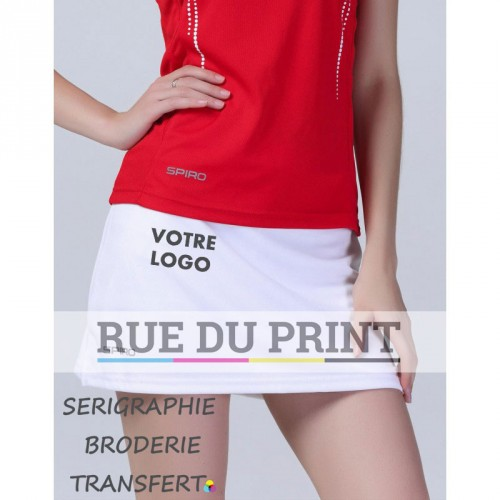 Short publicité femme 210 g/m² Jupe: 100% polyester, pantalon: 95% coton, 5% élasthanne Bande de taille élastiquée