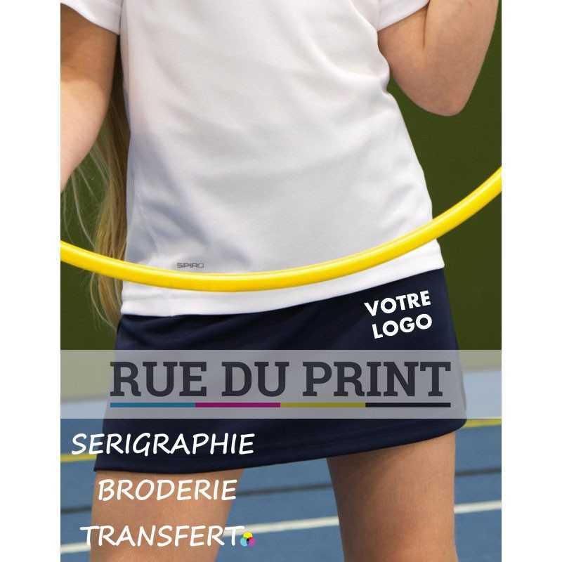 Short publicité enfant Spiro 210 g/m² Jupe: 100% polyester, pantalon: 95% coton, 5% élasthanne Bande de taille élastiquée
