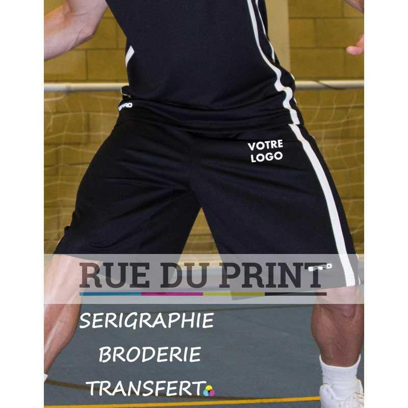 Short publicité homme Basketball 145 g/m², 100% polyester (filet jacquard) Extrêmement léger Respirant et séchage rapide