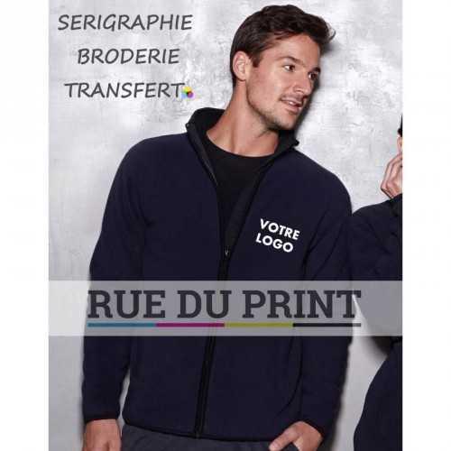 Veste publicité homme Active 400 g/m² 100% polyester (doublé polaire)