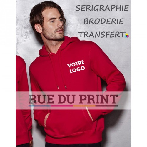Sweat publicité homme Active 270 g/m² 80% coton ringspun, 20 %polyester Grey heather: 70% coton, 30% coton