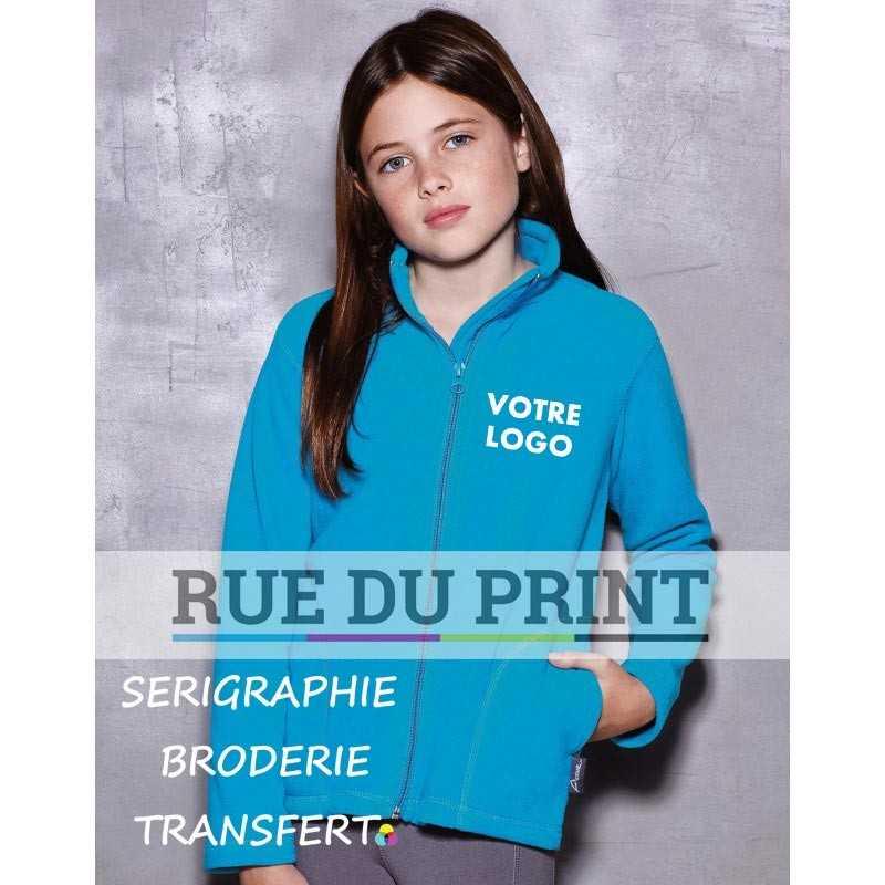 Gilet publicité enfant Active 220 g/m² 100% polyester (polaire traité anti peluche) respirant